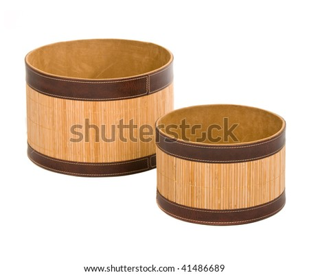 Fancy Open Wooden Boxes Over White Stock Photo Edit Now 41486689