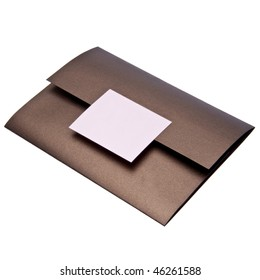 Fancy paper invitation, possibly for a wedding.  File includes a clipping path.