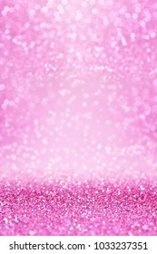 Fancy pink glitter sparkle confetti background for happy birthday party invite, Christmas celebration, fairy princess girl texture, falling diamond glitz, girly glam pattern, sale or wedding design