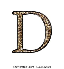 Fancy letter d images stock photos vectors shutterstock fancy sparkling glittery gold style uppercase or capital letter d in a 3d illustration with a altavistaventures Gallery