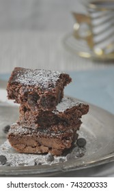 Fancy stacked brownies