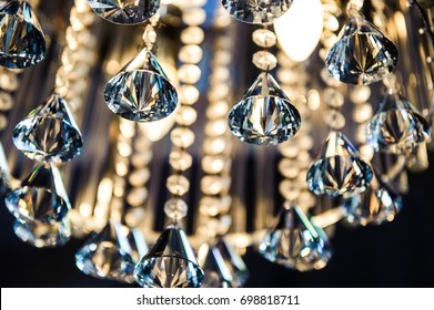 Fancy wedding chandelier.