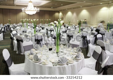 Fancy Wedding Reception Area Ready Guests Stock Photo Edit Now