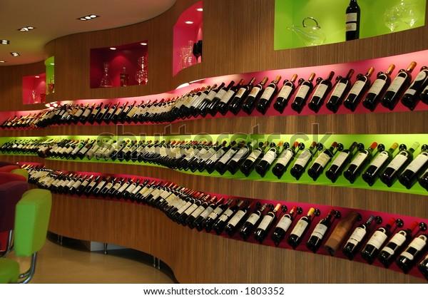 Fancy wine shop
