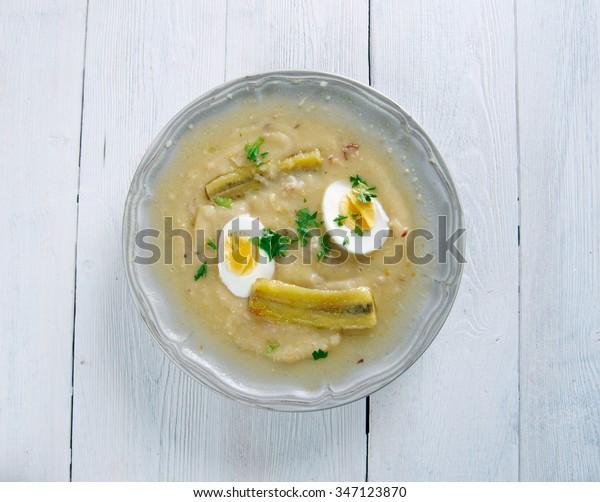 Fanesca soup - traditionally prepared and eaten in Ecuador