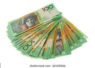 Fanned out $100 notes - Australian Money - Aussie currency
