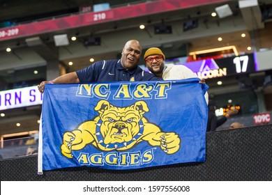 Fans - 2019 Celebration Bowl in Atlanta, Georgia- North Carolina A&T Aggies Vs. Alcorn State Braves HBCU College Football Championship at the Mercedes Benz Stadium - USA