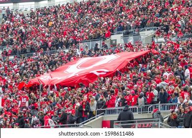 Fans Celebrating - NCAA Division 1 Football University of Maryland Terrapins  Vs. Ohio State Buckeyes on November 11th 2019 at the Ohio State Stadium in Columbus, Ohio USA