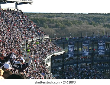 Fans Cheering at Gillette Stadium