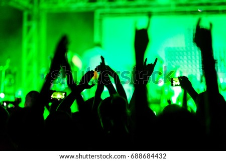 fans are enjoying concert