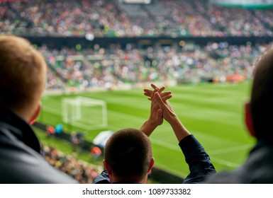 fans at the football match