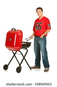 Fans: Football Team Fan Grills With Portable BBQ