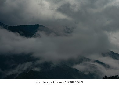 Fansipan Mountain in clouds, Sapa, Vietnam