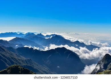 Fansipan Mountain, tallest Hoang Lien Son range, Northwest region of Vietnam