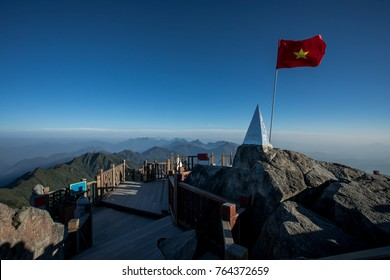 fansipan summit highest mountain peak of indochina sapa lao cai province northern of vietnam