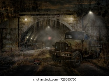 """Fantasies on the theme of the work of Arkady and Boris Strugatsky """"Roadside Picnic """". Title - Stalker Zone (Danger, Keep Out)"""