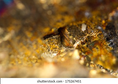 Fantastic background, magic of a stone, gold metal (big collection
