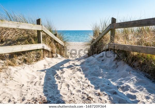 Fantastic beach in Ystad on Österlen in Sweden