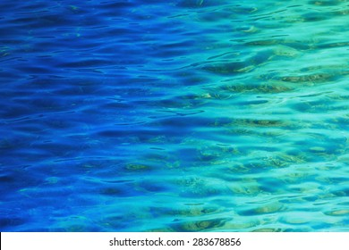 Fantastic blue sea background. Mediterranean Sea, Montenegro, Europe. Beauty world.