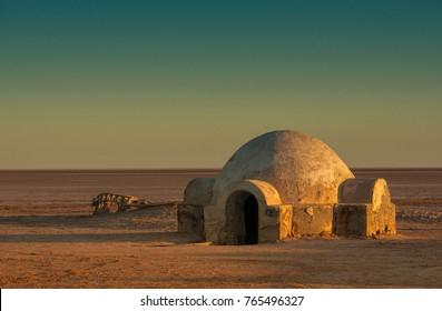 fantastic building in the desert