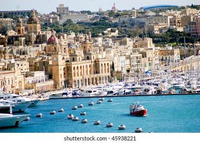 fantastic city landscape on the seaside in malta