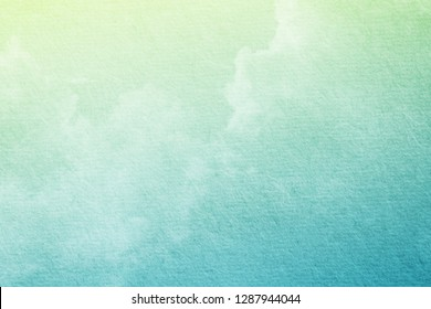 fantastic cloudy sky with pastel gradient color and grunge paper texture , nature abstract background