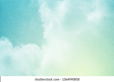 fantastic cloudy sky with pastel gradient color with grunge paper texture, nature abstract background