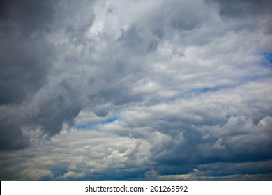 fantastic dark sky with clouds