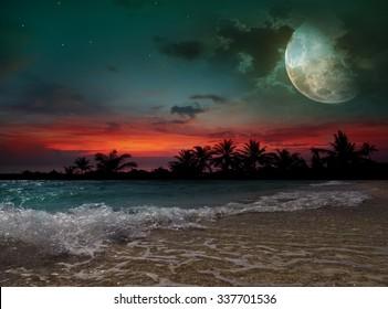Fantastic evening on the beach