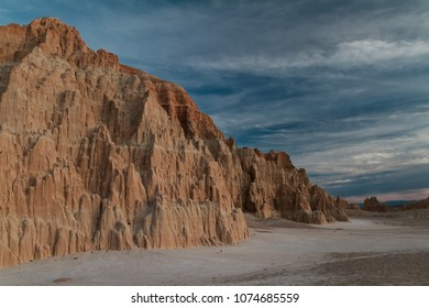 Fantastic landscape of Cathedral Gorge State Park at sunset in Nevada, USA.