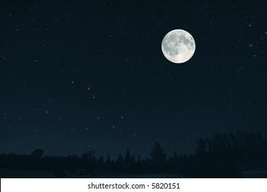 the fantastic large moon landscape