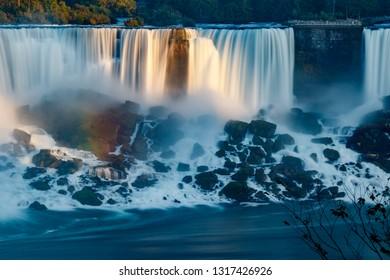 Fantastic Niagara Falls view, Canadian Falls, Ontario, Canada