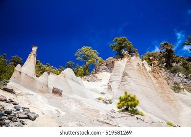 fantastic rock formations Paisaje Lunar Tenerife, Canary Islands, Spain