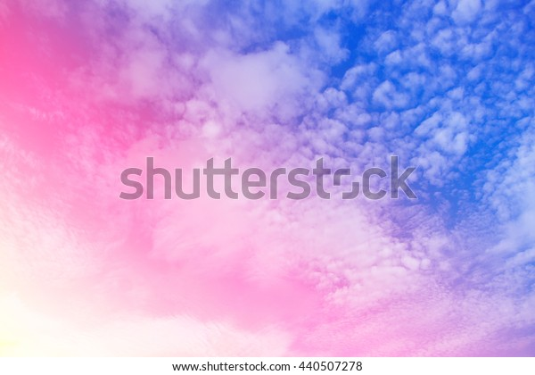 Fantastic sky and colorful clouds.