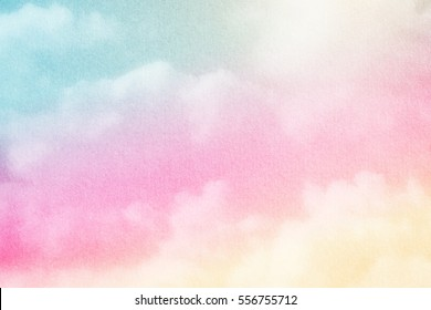 fantastic soft cloud  with pastel color and grunge texture, nature abstract background