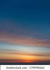 Fantastic soft clouds at sunrise, natural composition