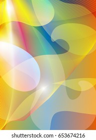 fantastic soft color and shape texture, abstract background