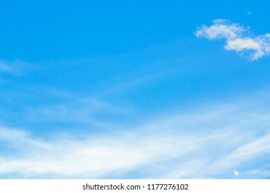 Fantastic soft white clouds against blue sky in thailand.