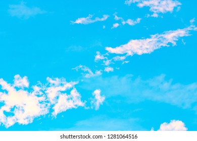 Fantastic soft white clouds against blue sky in thailand..