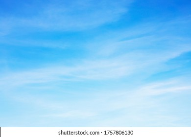 Fantastic soft white clouds against blue sky and copy space - Shutterstock ID 1757806130