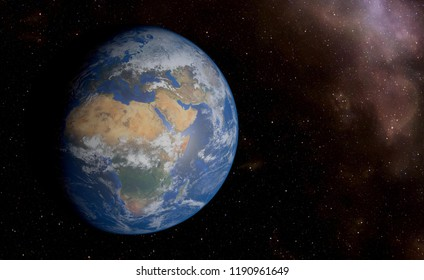 Fantastic space view of earth