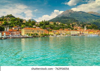 Fantastic touristic place, summer holiday resort with colorful buildings, Menaggio, Lake Como,Lombardy region, Italy, Europe