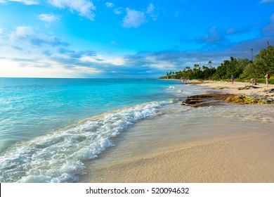 fantastic tropical panorama  isla saona in dominican republic caribbean sea