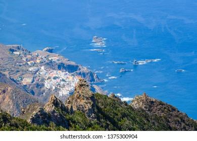 Fantastic view of the coast in the Anaga peninsula. Tenerife. Canary Islands. Spain