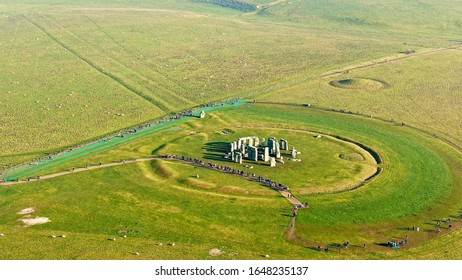 Fantastic view over Stonehenge in England - BRIGHTON, UNITED KINGDOM, DECEMBER 29, 2019