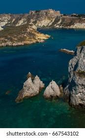 Fantastic view of Tremiti islands with emerald sea in the Gargano national park, Puglia