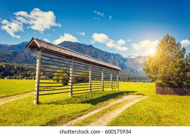 Fantastic views of the hills at sunny day. Picturesque and gorgeous scene. Location famous place Triglav national park, Bohinj valley, Julian Alps, Slovenia, Europe. Discover the world of beauty.