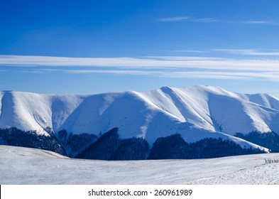 Fantastic winter landscape. Carpathian, Ukraine