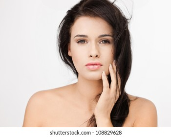 Fantastic  woman on white background
