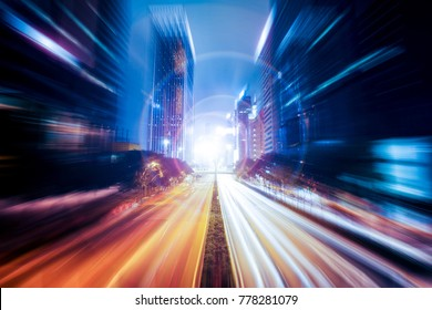 Fantasy abstract motion speed effect on city   - Shutterstock ID 778281079